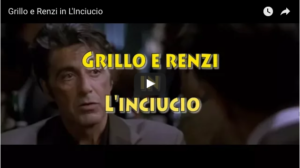 Grillo e Renzi in L'Inciucio